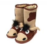LazyOne Unisex Bull Toasty Toez Slipper Boots for Children